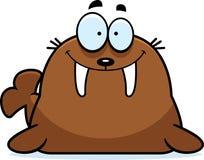 Smiling Cartoon Walrus Stock Photography