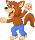 Smiling cartoon werewolf Stock Images