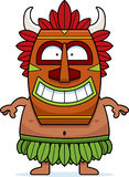 Smiling Cartoon Witch Doctor. A cartoon illustration of a witch doctor smiling Royalty Free Stock Photos