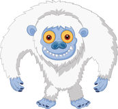 Smiling cartoon yeti Stock Images