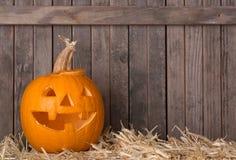 Smiling Carved Pumpkin Stock Images
