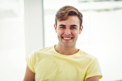 Smiling casual business man Stock Images