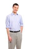 Smiling casual man looking at camera Stock Image