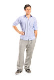 Smiling casual man looking at camera Royalty Free Stock Photo