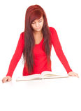 Smiling casual student girl with notebook Royalty Free Stock Images
