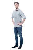 Smiling casual young man isolated on white Stock Image