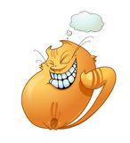 Smiling cat. Vector illustration of smiling cat Royalty Free Stock Photography