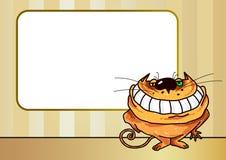 Smiling cat vector illustration