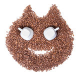Smiling Cat Coffee beans Royalty Free Stock Images