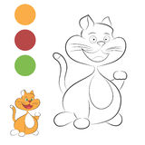 Smiling cat for coloring Royalty Free Stock Image