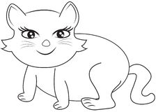 Smiling cat coloring page Stock Photos