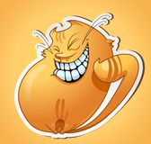 Smiling cat sticker Royalty Free Stock Images
