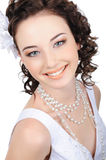 Smiling caucasian bride Stock Image