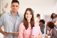 Smiling Caucasian College Students Stock Image