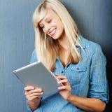 Smiling Caucasian female Stock Images