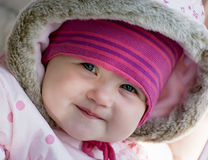 Smiling caucasian little baby girl Stock Photography