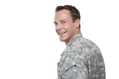 Smiling Caucasian Military Man Stock Image