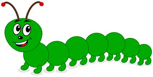 A smiling centipede. A smiling beautiful centipede, illustration Royalty Free Stock Images