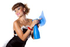 Smiling chambermaid Stock Photography