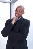 Smiling charismatic businessman Stock Photography