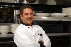 Smiling chef Stock Images