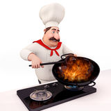 Smiling Chef is cooking Royalty Free Stock Photography
