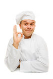 Smiling chef isolated on white Royalty Free Stock Photo