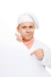 Smiling chef isolated on white Royalty Free Stock Photos
