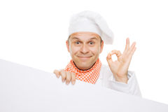 Smiling chef isolated on white Stock Photos