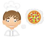 Chef with pizza Royalty Free Stock Images
