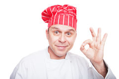 Smiling chef Stock Photography