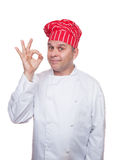 Smiling chef showing ok sign Royalty Free Stock Photo