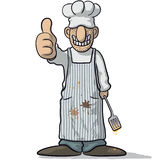 Smiling chef in apron Royalty Free Stock Photo
