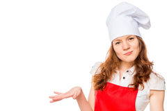 Smiling chef on a white background Stock Photography