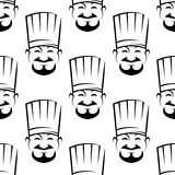 Smiling chefs seamless background pattern Stock Images