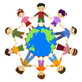 Smiling child. Children holding hands. For peace. Children smile and laugh. Children around the globe Stock Photo