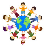Smiling child. Children holding hands. For peace. Children smile and laugh. Children around the globe Stock Images