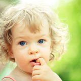 Smiling child royalty free stock photos
