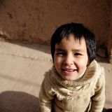 Smiling Child. This photo was taken during my trip at Xin Jiang, A cute Kashi Uygur girl Stock Photography