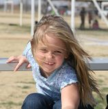 Smiling Child. Playing at the field Royalty Free Stock Photos