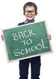 Smiling child with blackboard Stock Image