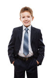 Smiling child boy in business suit Stock Image