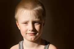 Smiling child (boy) Stock Photos