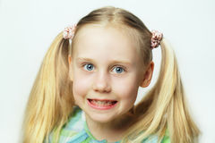 Smiling child - cute face Stock Images