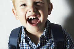 Smiling child. funny little boy. close-up.laughter.emotion Royalty Free Stock Photography