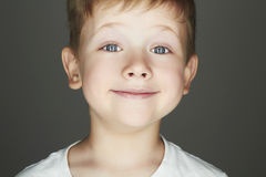 Smiling child. funny little boy Royalty Free Stock Images