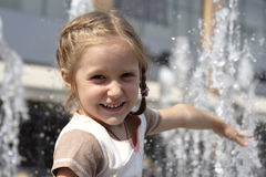 Smiling child girl Stock Photos