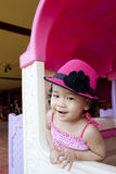Smiling child with hat Stock Photography