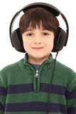 Smiling Child Headphones with Clipping Path Royalty Free Stock Photo