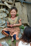 Smiling child in a Hmong tribe village. Ban Hin Ngon. Vientiane province. Laos. The Hmong is an ethnic group from the mountainous regions of China, Vietnam, Laos Royalty Free Stock Photos